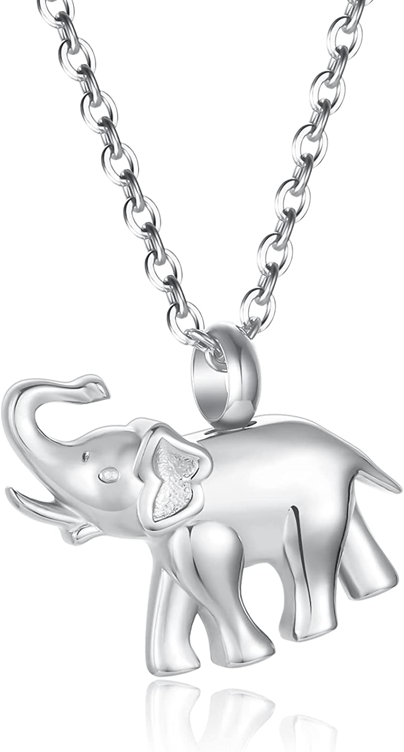 Cute Elephant Cremation Jewelry for Ashes Memorial Jewelry Crema