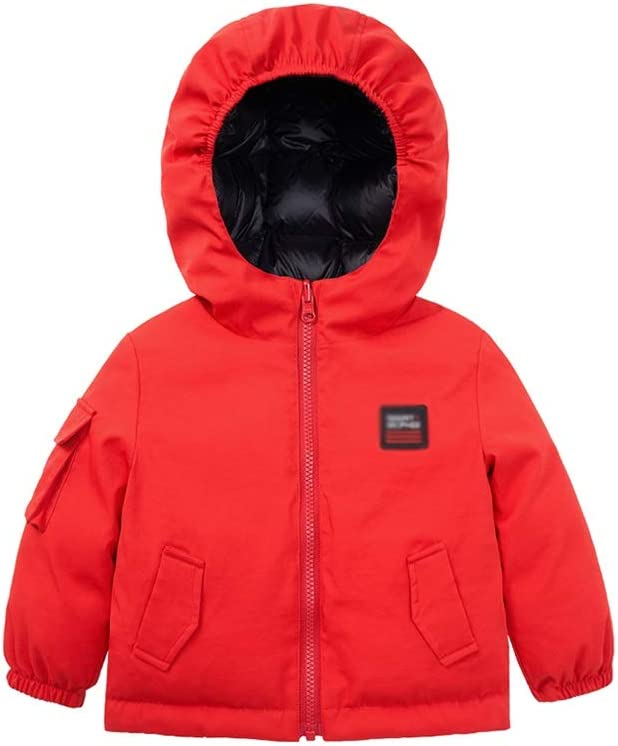 Boys Girls Winter Thick Jacket Warm New arrival Quilt Ja Direct store Hooded Lined Zipper