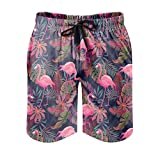Gamoii - Bañador para hombre con diseño de planta tropical, con estampado 3D, con forro de malla, para natación, con cordón, bolsillos laterales, color blanco 4XL