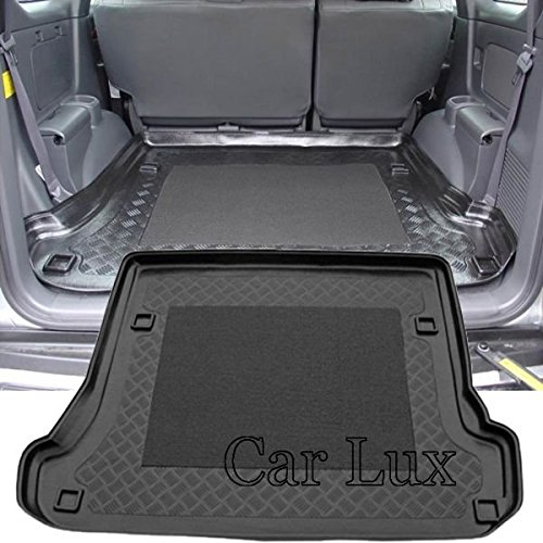 Car Lux AR00954 - Alfombra Bandeja Cubeta Protector cubre maletero a medida para Land Cruiser 120 J12