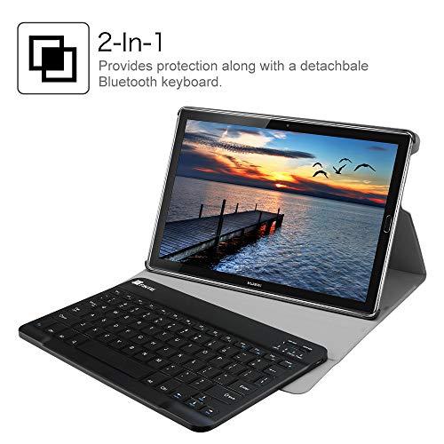 Fintie Huawei Mediapad M5 10.8/10.8 Pro QWERTZ Bluetooth Tastatur Hülle - Ständer Schutzhülle mit Magnetisch Abnehmbarer Drahtloser Deutscher Bluetooth Tastatur für Huawei M5 10,8 Zoll, Sternbild - 7