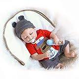 19 pulgadas de la muñeca renacida, Dormir bebé enteros de silicona muñecas, realista de la muñeca de la muñeca del niño, Simular reales del bebé juguetes para los niños, regalo de Seguridad
