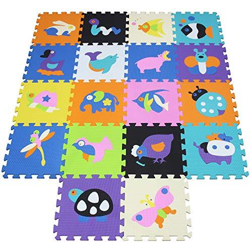 XMTMMD Suelo Para Ninos Y Infantiles EVA Puzzle ColchonetaPara Ninos Y Infantiles EVA Puzzle Puzzle Rompecabezas para cubrir el suelo (18 piezas) - Play Mat Set - Material espuma AMT1517G3210