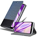 Cadorabo Hülle für Nokia 4.2 in DUNKEL BLAU SCHWARZ – Handyhülle mit Magnetverschluss, Standfunktion & Kartenfach – Hülle Cover Schutzhülle Etui Tasche Book Klapp Style