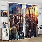 DRAGON VINES Cortina de noche moderna hecha por el hombre, diseño de rascacielos de Nueva York, para habitación infantil, abstracta, minimalista, paisaje, 214 x 214 cm
