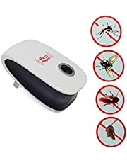 Electronic Ultrasonic Anti Insect Mosquito Pest Reject Mouse Killer Magnetic Repeller white