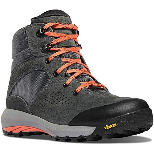 "Danner Women's 64531 Inquire Mid 5"" Waterproof Lifestyle Boot, Dark Gray/Salmon - 10.5"