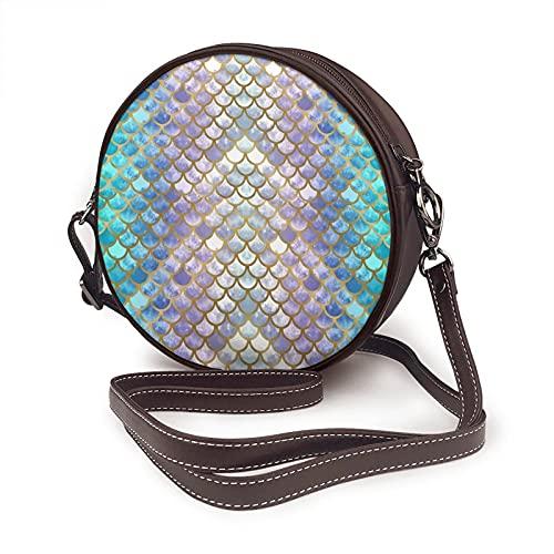 Bolso bandolera para mujer, bolso lateral para vacaciones, viajes, verano, moda, círculo, báscula, de sirena