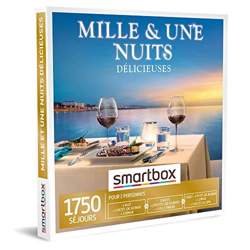 SMARTBOX - Coffret Cadeau Couple - Idée cadeau original : Nuits et séjours d'exception pour une escapade romantique et gourmande à deux