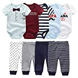 Baby Layette Set Baby Boys' 9-Piece Bodysuits Pants Set Toddler Girl Boy Unisex Baby Gift Sets