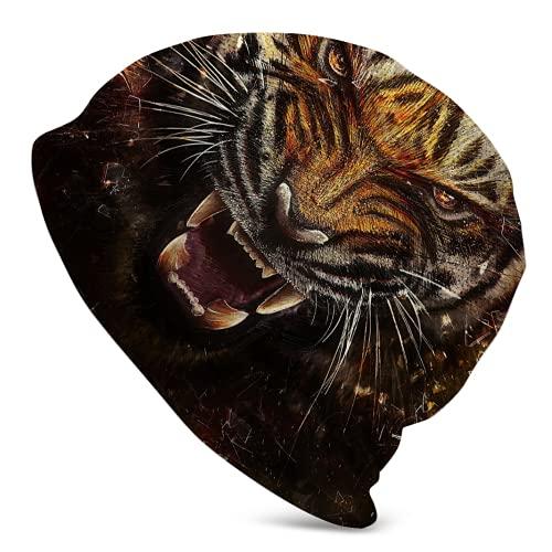 Jimbseo Gorrita tejida con diseño de tigre de Big Cat para hombre y mujer