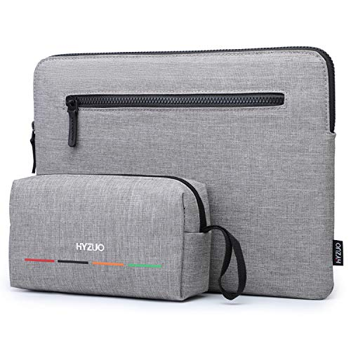 HYZUO 15-16 Zoll Laptop Hülle Schlank Laptoptasche Kompatibel mit MacBook Pro 16/Dell XPS 15/Surface Book 15/Acer Aspire 5 15.6/HP Envy X360 15/HP Spectre X360 15/Asus VivoBook 15/MacBook Pro 15,Grau