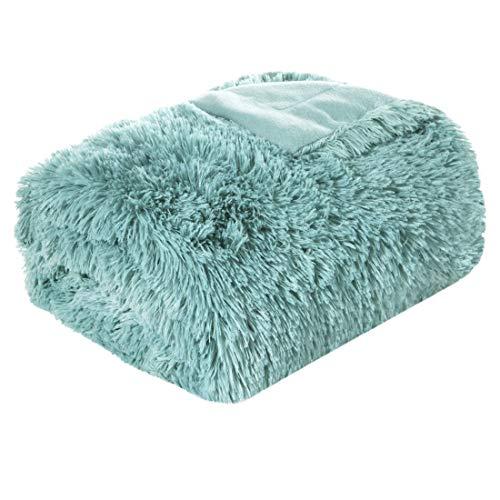 Eurofirany - Manta para sofá, Manta, Manta, Manta, cubrecama, cubrecama, cubrecama, Manta, Colcha, Colcha, Manta de Pelo sintético, cubrecama, lettia. (Minze, 170 x 210 cm)