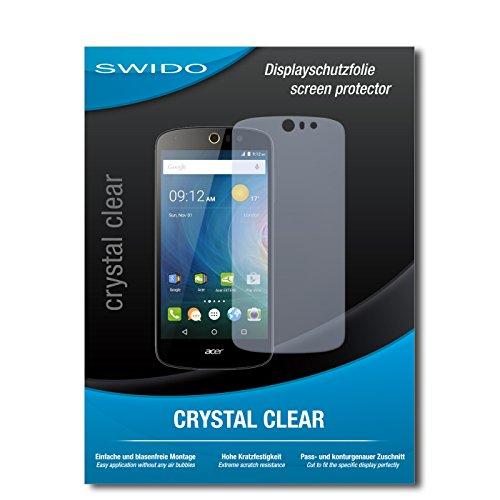 SWIDO Bildschirmschutz für Acer Liquid Z530 [4 Stück] Kristall-Klar, Hoher Festigkeitgrad, Schutz vor Öl, Staub & Kratzer/Schutzfolie, Bildschirmschutzfolie, Panzerglas Folie