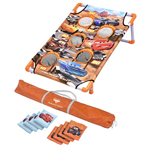 GoSports Disney Pixar Bean Bag Toss and Cornhole Games – Choose Between Frozen 2, Cars and Finding Nemo – Includes 8 Bean Bags with Portable Carrying Case, Red, DIS-CH-05-CARS
