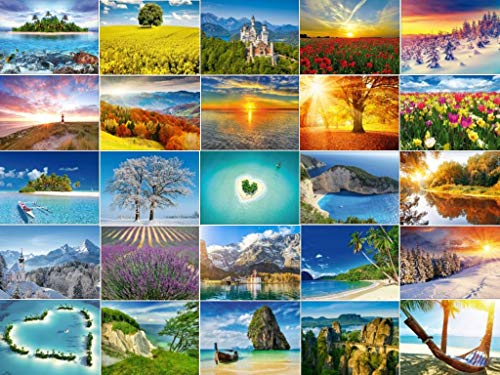 Set de tarjetas postales 'Landschaffen', 30 diseños diferentes, desde Alemania hasta el Mar del Sur.