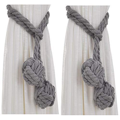 Xinlie Vorhang Raffhalter Vorhang Halter Baumwolle Seil Raffhalter(Grau)