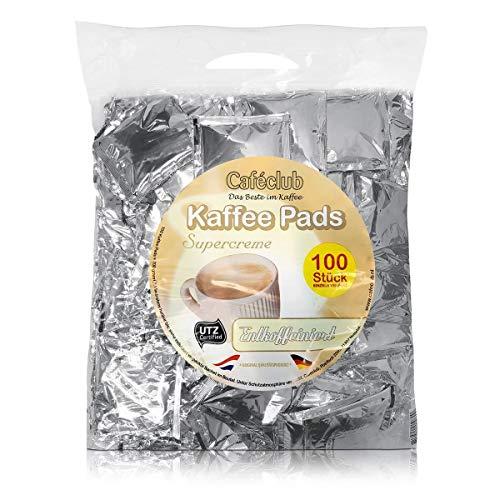 Cafeclub Kaffee-Pads Supercreme entkoffeiniert - 100Stk einzeln verpackt, Pad für zb Senseo, koffeinfrei