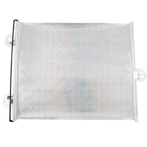 Accessotech 2 x Plata Ventanilla del Coche Parasol Persiana Enrollable Protector De Pantalla Grande Protección Niños