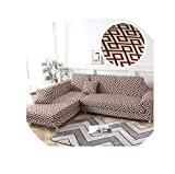 Slipcovers Sofa Cover Tight Wrap All-Inclusive Slip-Resistant Sectional Elastic Full L-Style Couch Cover Sofa Towel Cover Sofa 15 1-Seat and 3-Seat