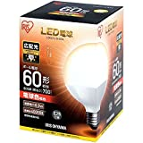 LED電球 E26 広配光タイプ ボール電球 60W形相当 LDG7N-G-6V4 ・LDG7L-G-6V4(567960) アイリスオーヤマ