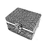 flores joyero de plata hecho a mano interior suave Cofre del tesoro Caja de regalo para regalo Caja Tarjetas Colección...