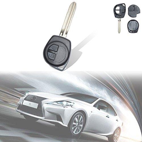 KaTur Coque de clé télécommande de rechange 2 boutons 433 MHz pour Suzuki Vitara Swift Ignis SX4 Liana Alto
