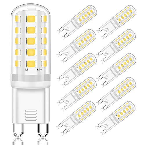 Ampoule G9 LED 4000K, G9 LED 5W Equivalent 40W 50W Halogène Lampe, 400LM Ampoules LED G9 Blanc Naturel 4000K, AC220-240V, Non Dimmable, Angle de faisceau de 360°, Lot de 10