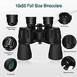 SkyGenius 10 x 50 Binoculars for Adults Full-Size, Binoculars for Bird Watching Sightseeing Wildlife Watching with Low Light Night Vision