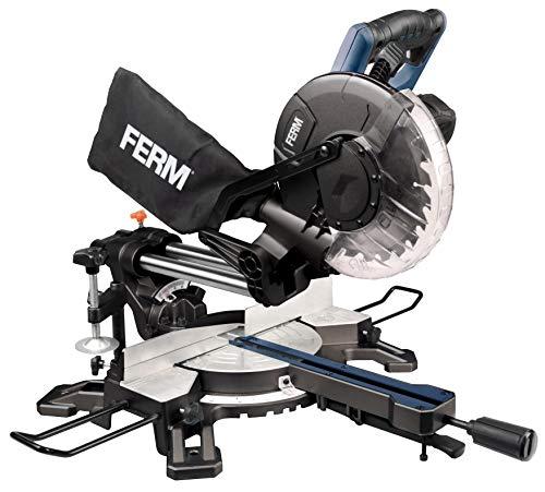 Ferm radiale verstekzaag - verstekzaag 1900W - 255mm - met lasergeleiding - incl. TCT T60 Zaagblad en stofopvangzak | HANDWERKER |