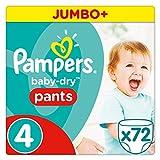 Pampers Baby Dry Pants Windeln, Gr. 4 (8-14 kg), Jumbo Plus, 1er Pack (1 x 72 Stück)