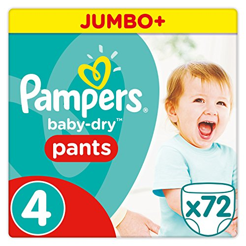 Pampers Baby Dry Pants Windeln, Gr. 4 (8-14 kg), Jumbo Plus, 1er Pack (1 x 72 Stück)