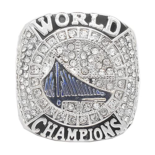 2017 NBA Golden State Warriors Durant MVP Championship Ring campeonato anillo para los fanáticos de los hombres de la colección regalo de visualización campeón del recuerdo de réplica ,Without box,11