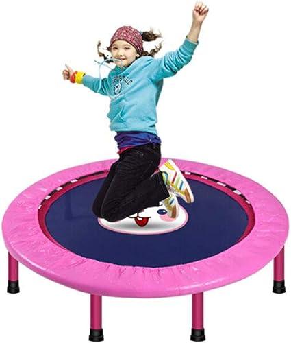 KY&CL Mini-Trampolin Fitness, Erwachsenen-Trampolin Gym, faltbares Trampolin Slimming 40 Zoll Rosa Ribbon