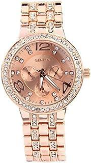 Women Dress Watches Geneva Full Steel wristwatch women Rhinestone Watch