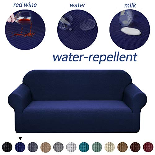 Granbest Premium Water Repellent Sofa Cover High Stretch Couch Slipcover Super Soft Fabric Couch Cover (Navy Blue, Sofa)