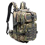 Military Tactical Camo Backpack for Men, Small Molle Survival Bag for Hiking,Hunting,Camping,Traveling