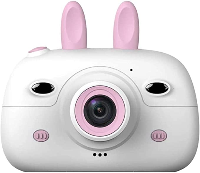 - Kids Digital Camera, HD Video Action with 2.4 Inch 1080P Screen & Lanyard Anti-Drop Design Mini SLR Supports USB Boys Girls Creative Gifts,Pink