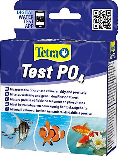 Tetra Test PO4 (Phosphat) - Wassertest für Süßwasser-Aquarien, Meerwasser-Aquarien und Gartenteiche, misst zuverlässig und genau den Phosphatwert