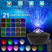 Formonix Laser Star Projector,LED Night Light Starry Projector with Nebula Cloud,3 in 1 Sky Ocean Wave Projection for Birt...