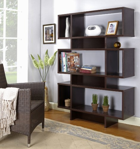 Kings Brand Furniture - 63-inch Display Cabinet Bookcase Boo...