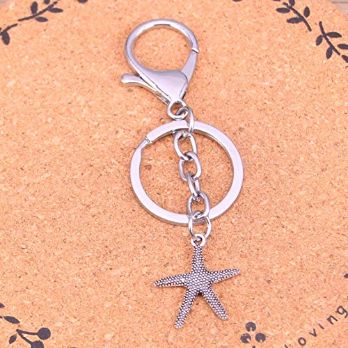 Metal Key Ring Gift Starfish Keychain Keyring