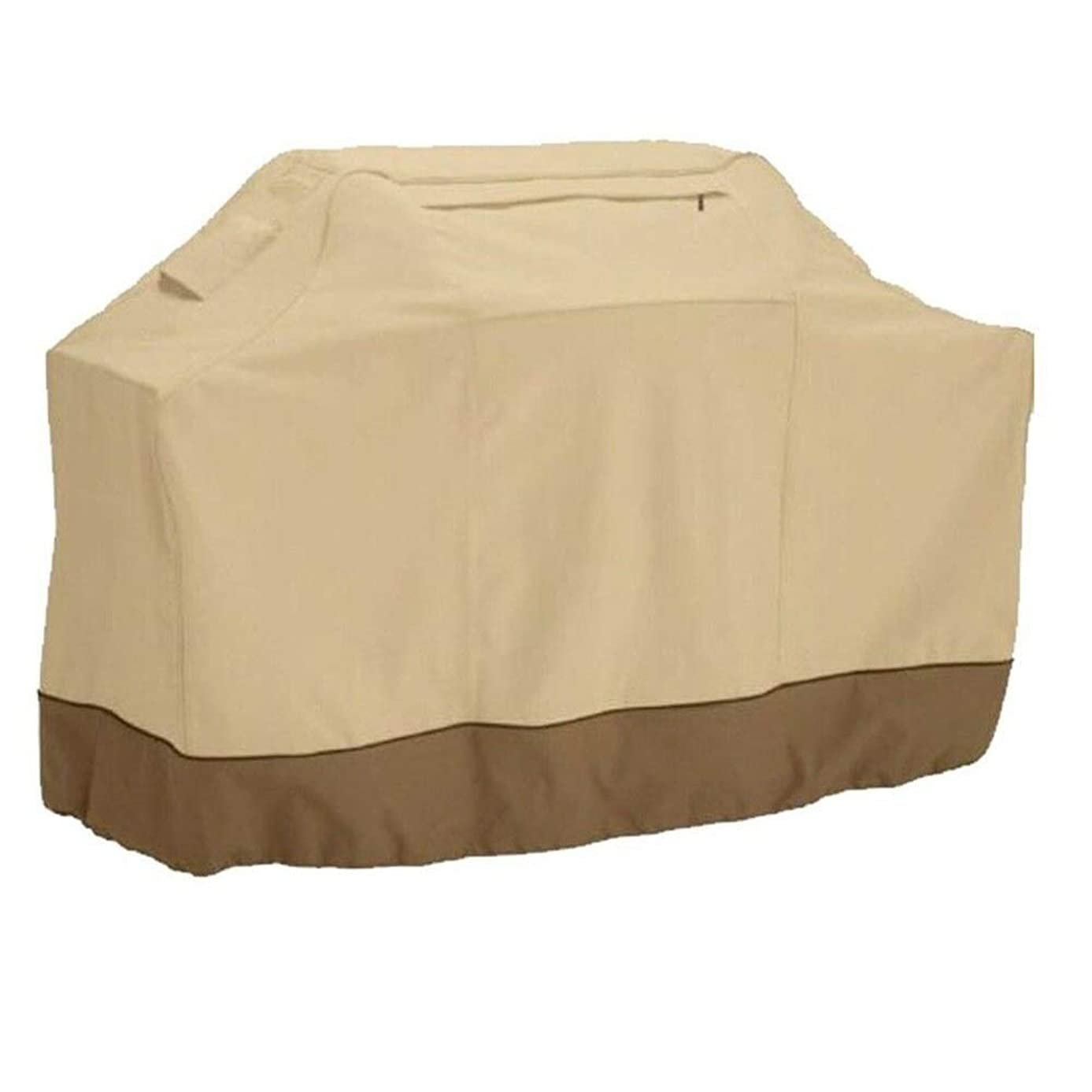 Pastel Cover Grill BBQ Waterproof Barbecue Gas Outdoor Barbecue Grill Cover 600D Heavy Duty 64 inches Beige L 64 x W 24 x H 48 inches