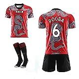 WWLONG Uniforme de fútbol británico Conjunto 16# Pogba Ropa Deportiva de fútbol, Traje de Entrenamiento para niños adultos-Custommade-26