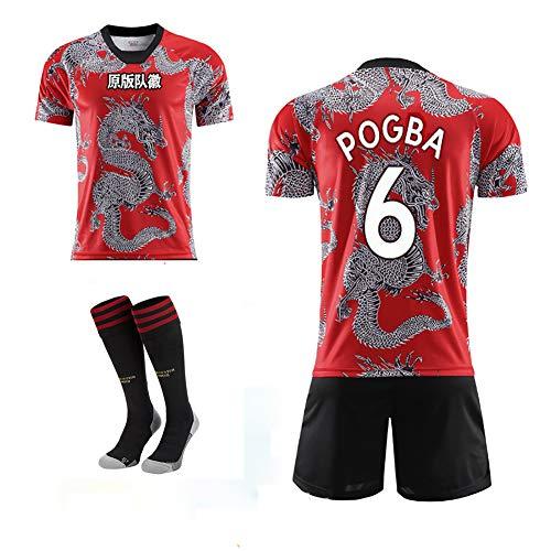 WWLONG Britische gemeinsame Fußballuniform 16# Pogba Fußball-Sportbekleidung, Trainingsanzug für Erwachsene Kinder-Num6-24
