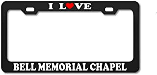 Product Express I Love Bell Memorial Chapel Delaware Nature Black License Plate Frame Tag Border