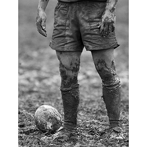 Wee Blue Coo Dt Ball Rugby Mud Bowl Unframed Wall Art Print Poster Home Decor Premium