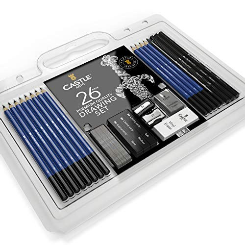 Castle Art Supplies 26-Piece Drawing & Sketching Pencil Art Set  $13 at Amazon