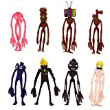 MC TTL 8 Pcs Siren Head Cake Topper, PVC Siren Head Toys Figures Toy, Dessert Table Decorations for Home Office Collectible Decoration Ornaments Kids Gift.
