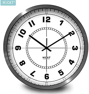BYLE Wall Clock Quartz Mute Non-Ticking Silent Kitchen Living Room Battery Creative Stylish Simple